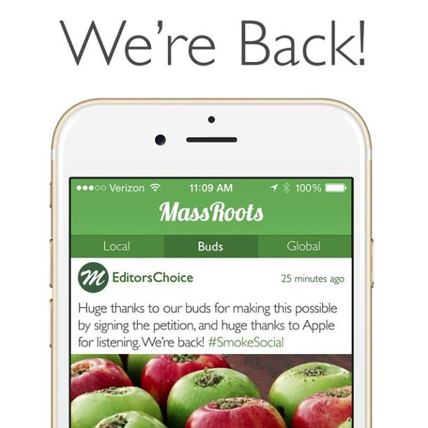 Apple restores weed discovery app in 23 states