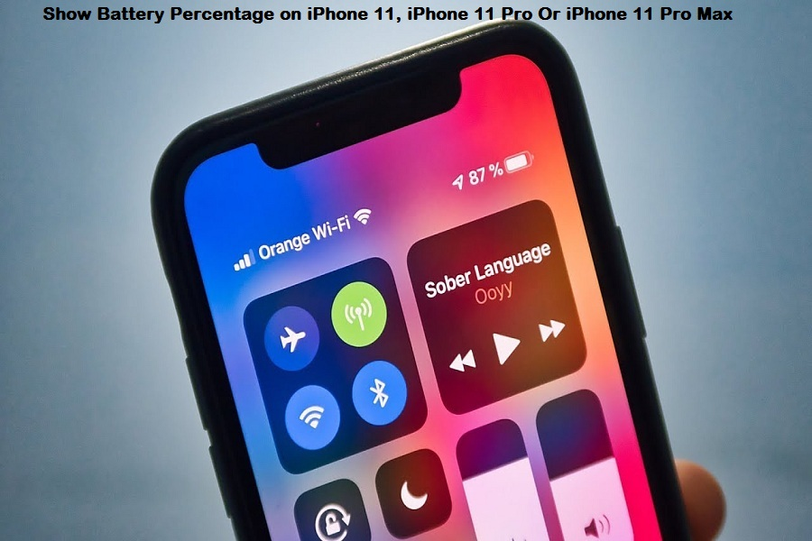 Show Battery Percentage on iPhone 11, iPhone 11 Pro Or iPhone 11 Pro Max