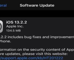 Apple's iOS 13.2.2