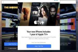 One-Year Free Trial of Apple TV Plus