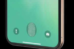 iPhone 2020 Under-Display Ultrasonic Fingerprint Scanner