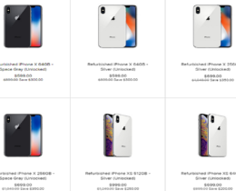 Refurbished iPhone XS and XS Max