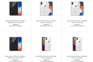Refurbished iPhone XS and XS Max