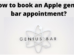 apple genius bar appointment