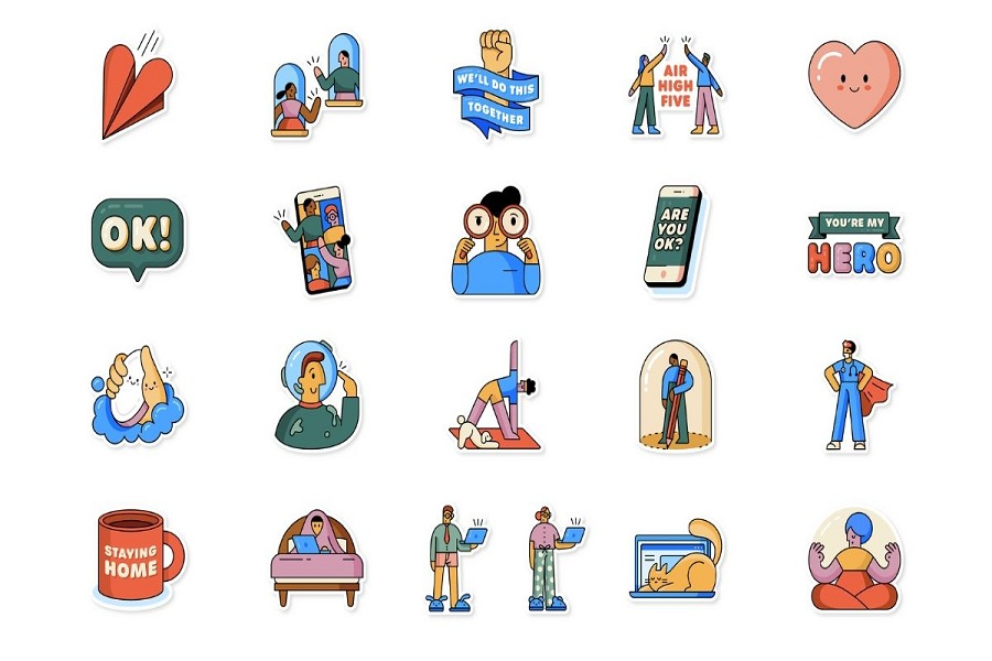 whatsapp-together-at-home-stickers