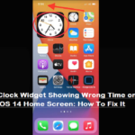 Clock Widget Showing Wrong Time on iOS 14