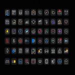 neon app icons ios 14