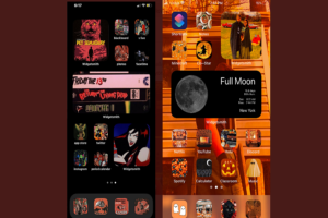 Aesthetic iOS 14 Halloween Home Screen