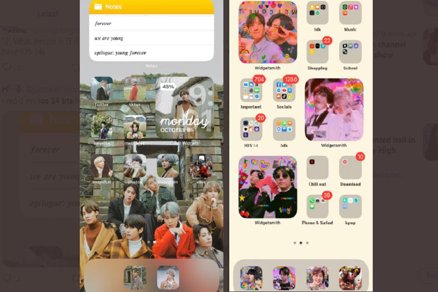BTS iOS 14 Home Screen Ideas