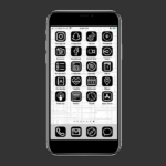 Black & White iOS 14 App Icons