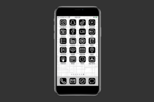 Black & White iOS 14 App Icons