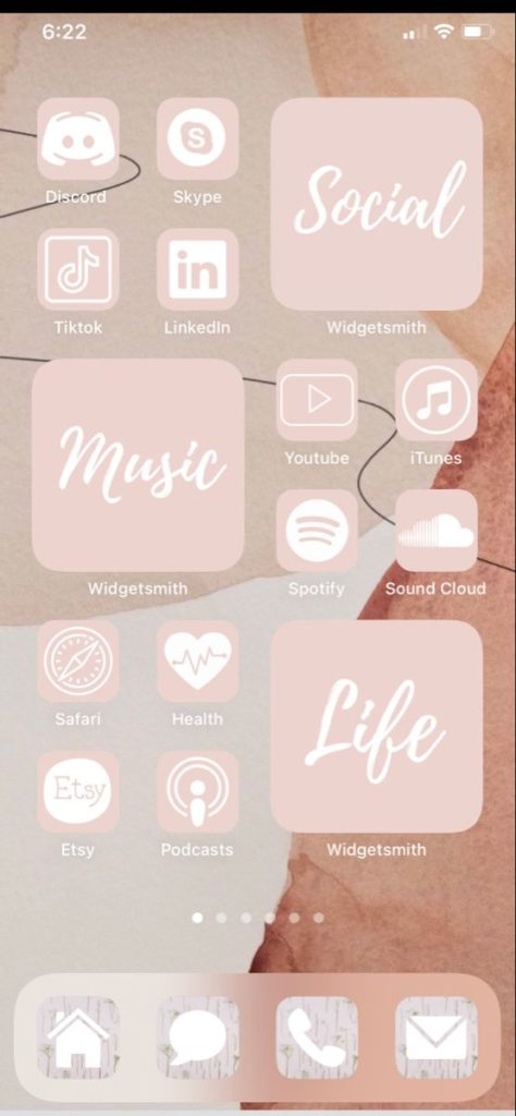best aesthetic pink ios 14 home screen ideas for
