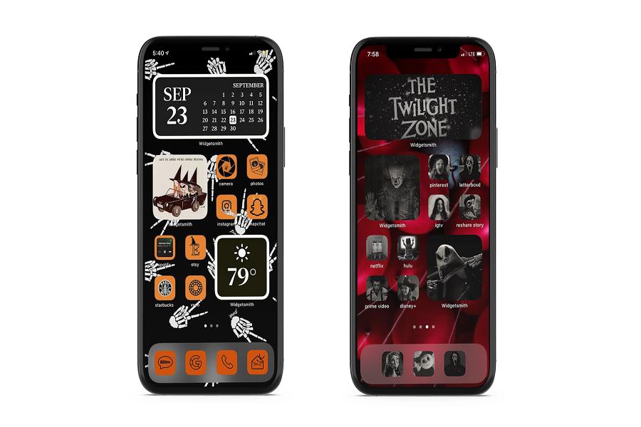iOS 14 Halloween Home Screen Ideas