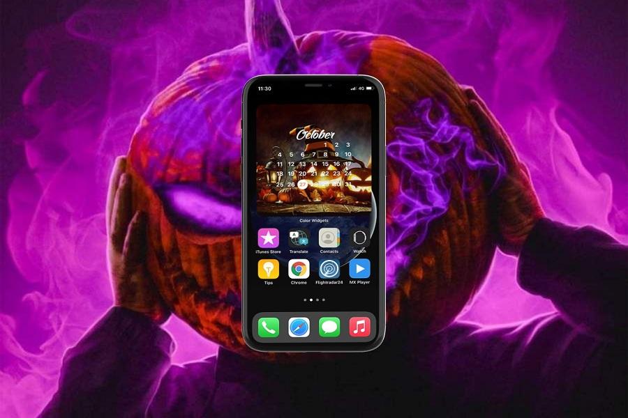 Halloween Calendar Widget