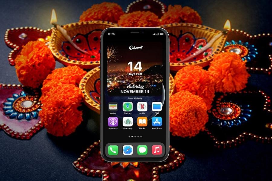 Diwali Countdown Widget on iPhone