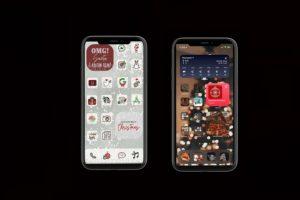 Christmas homescreen iPhone