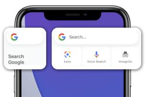 Google Widget Not Showing on iOS 14