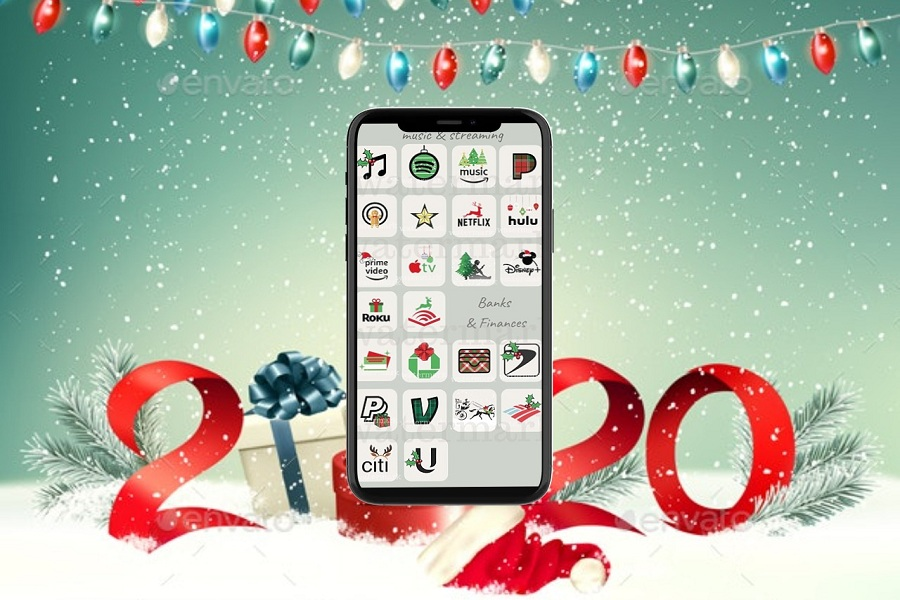 iOS 14 Christmas App Icons For iPhone