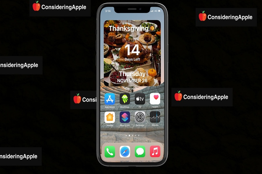 Thanksgiving Countdown Widget To iPhone