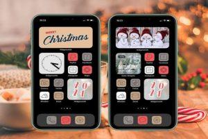 iOS 14 Christmas New Year Home Screen Ideas
