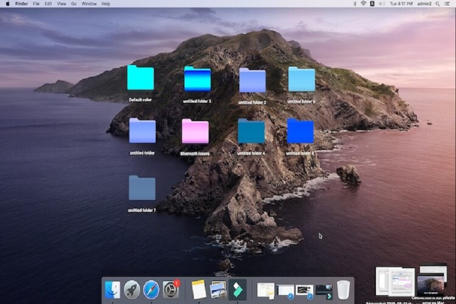 How to change folder icon or color in mac
