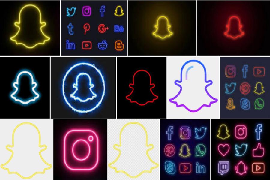 Neon Snapchat Logo