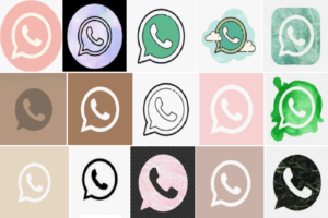 WhatsApp icon Aesthetic