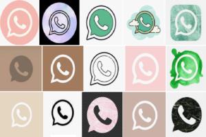 WhatsApp icon Aesthetic
