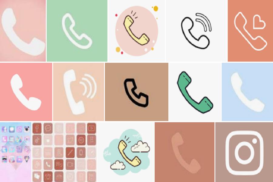 phone icon aesthetic