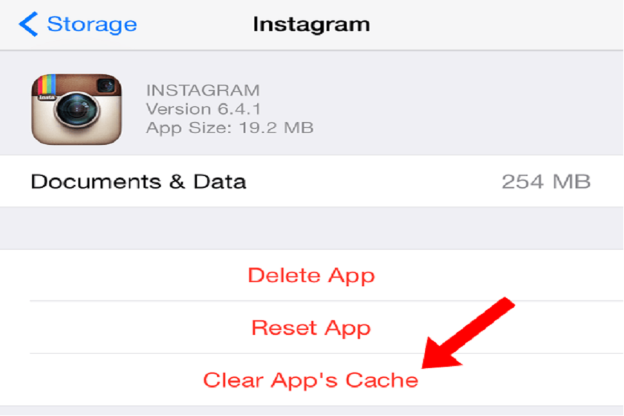 Clear Cache On iPhone