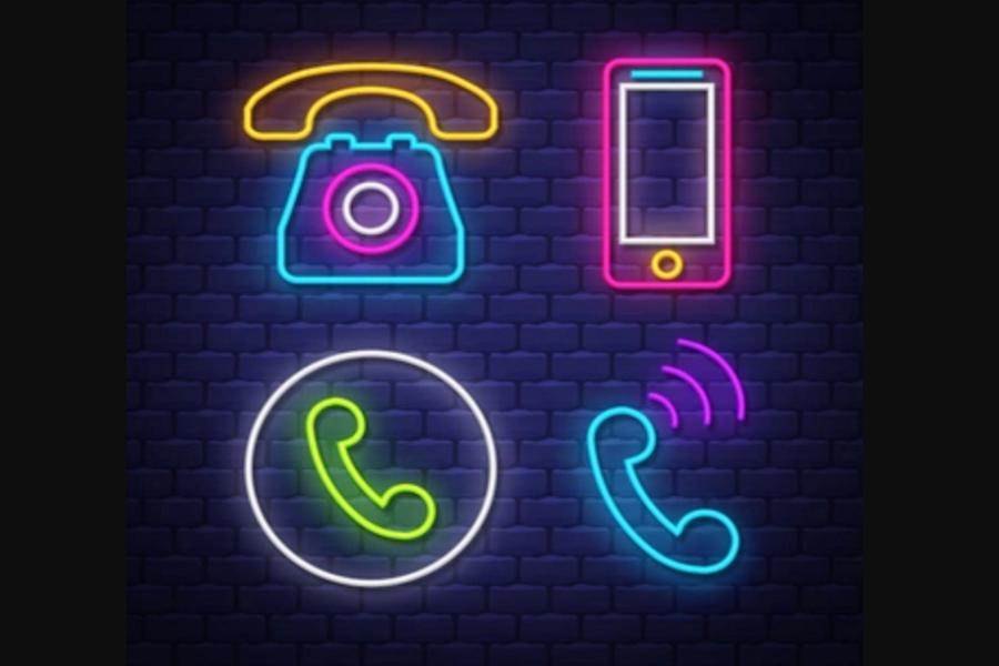 Neon Phone Icon