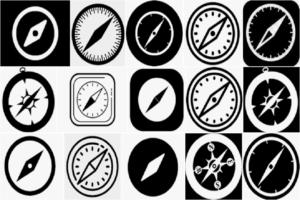 Safari Black & White Icon