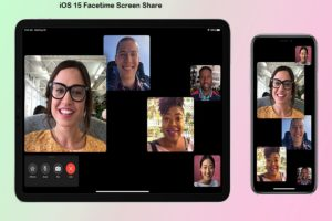 iOS 15 Facetime Screen Share