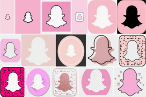 pink snapchat logo