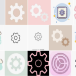 settings icon aesthetic