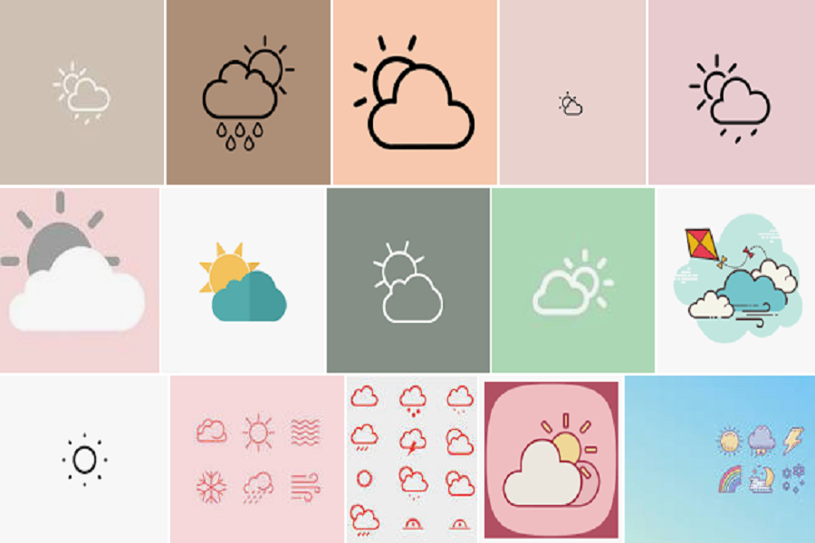 Weather icon aesthetic