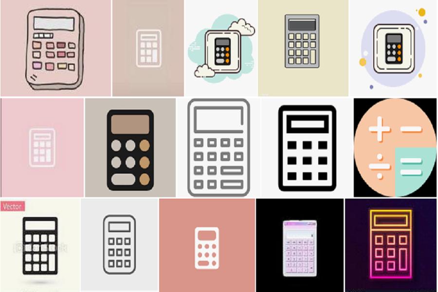 calculator icon aesthetic