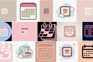 calendar icon aesthetic