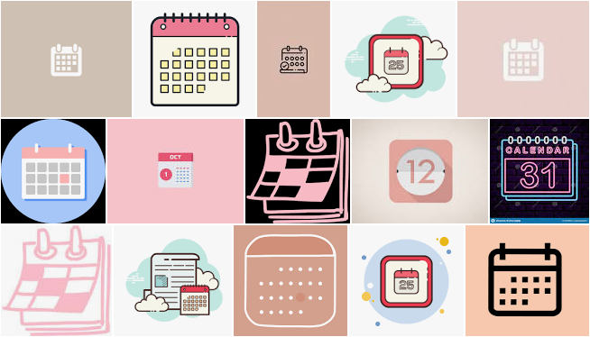 calendar icon aesthetic