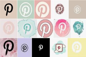 Pinterest icon Aesthetic