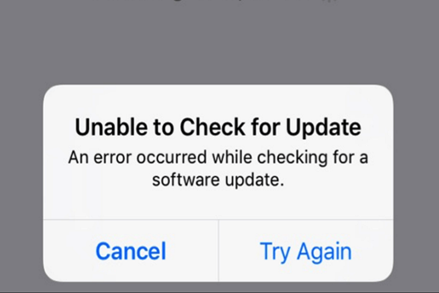 iPHONE UNABLE TO CHECK FOR UPDATE