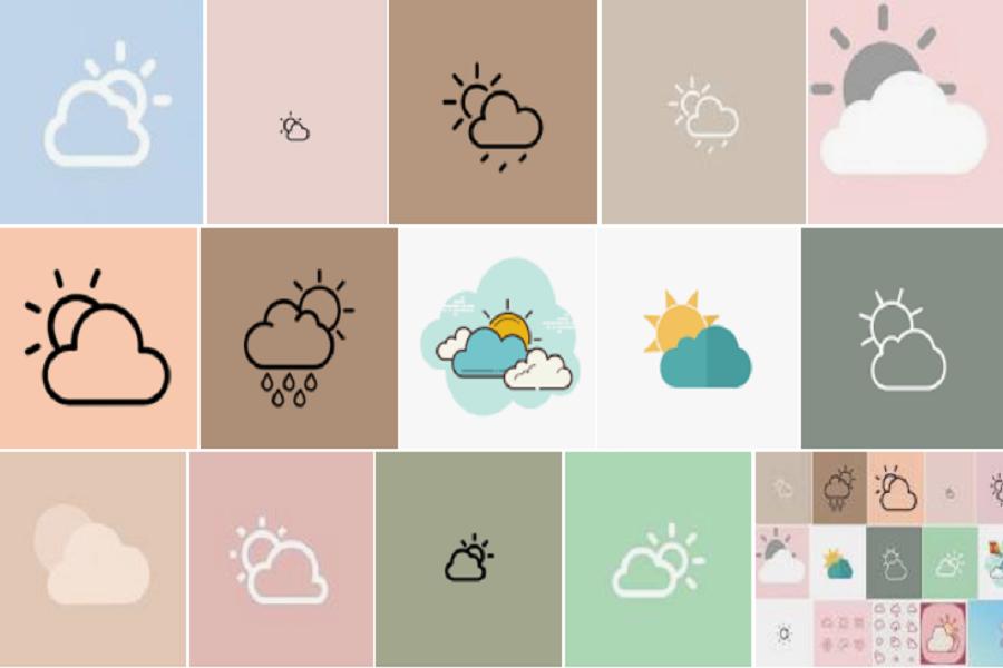 Aesthetic Weather icon iOS 15