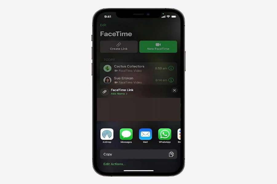 FaceTime Link in iOS 15