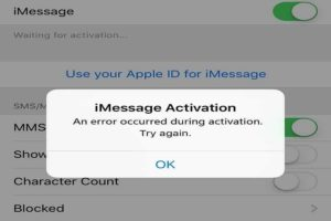 Facetime an error occurred during activation
