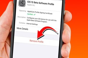 How To Remove iOS 15 Beta Without Computer