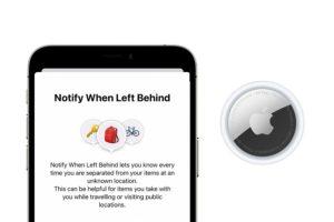 Notify When Left Behind
