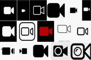 Black FaceTime Logo