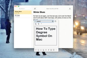 Degree Symbol On Mac