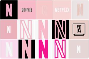 Pink Netflix Icons