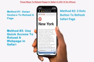 Reload Pages In Safari ios 15